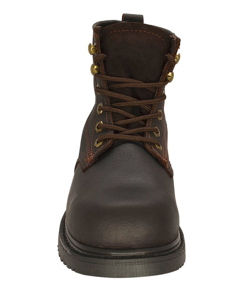 "Brown 6"" Plain Toe Oiled Leather Work Boot REDHAWK 615"
