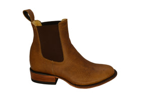 Women's Oak Round Toe Leather Chelsea Boot REDHAWK 7603