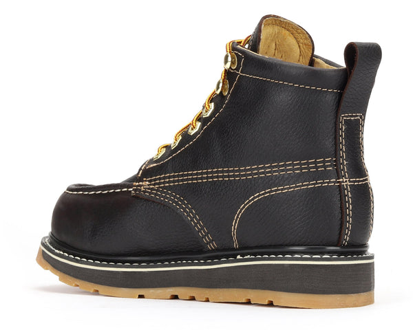 "FRONTIER 6"" Moc Toe Dual Density Wedge Work Boot (Soft Toe)"