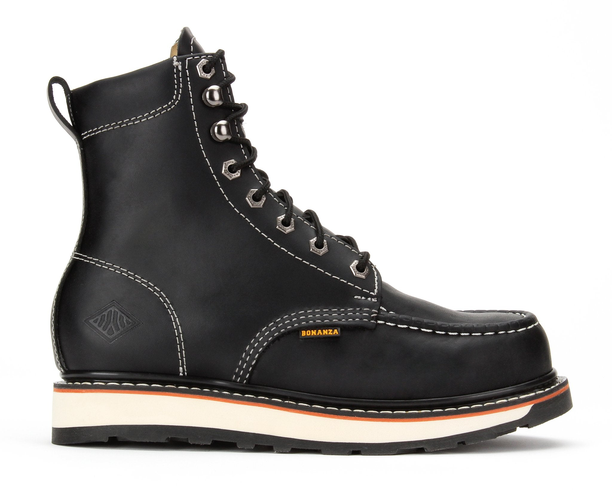 "FRONTIER II | 8"" Moc Toe Dual Density Wedge Work Boot (Soft Toe)"