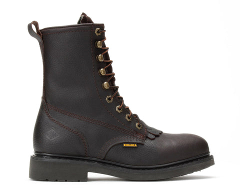 "BOONDOCKS 8"" Lacer Work Boots (Steel Toe)"