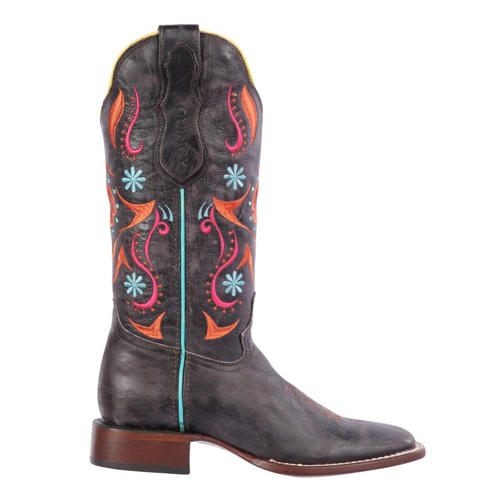 Women's Gray Cowgirl Western Ranch Toe Quincy Boots Q3225409F