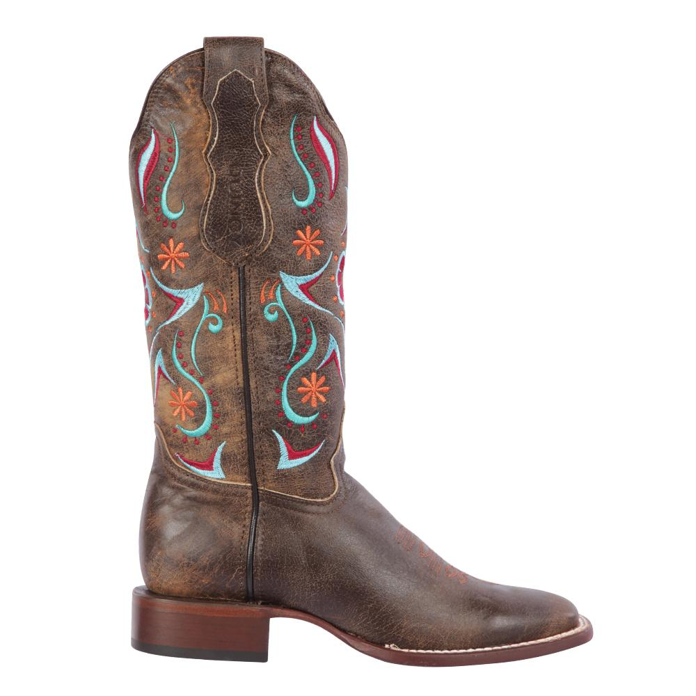 Women's Tobacco Cowgirl Western Ranch Toe Quincy Boots Q3225059F