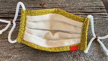 Load image into Gallery viewer, Meg's Masks, Face mask, Responsible, Fashionable, Comfortable, Washable, Reusable, Quality, COVID-19 Prevention, Allergy, Hey fever, new accessory, trendy, best mask, coolest mask, top rated mask, highest quality masks, most comfortable mask, adjustable, 3 layer face mask, Made in USA, Handmade by Meg
