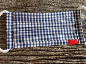 Social Distancing - Blue Check Gingham