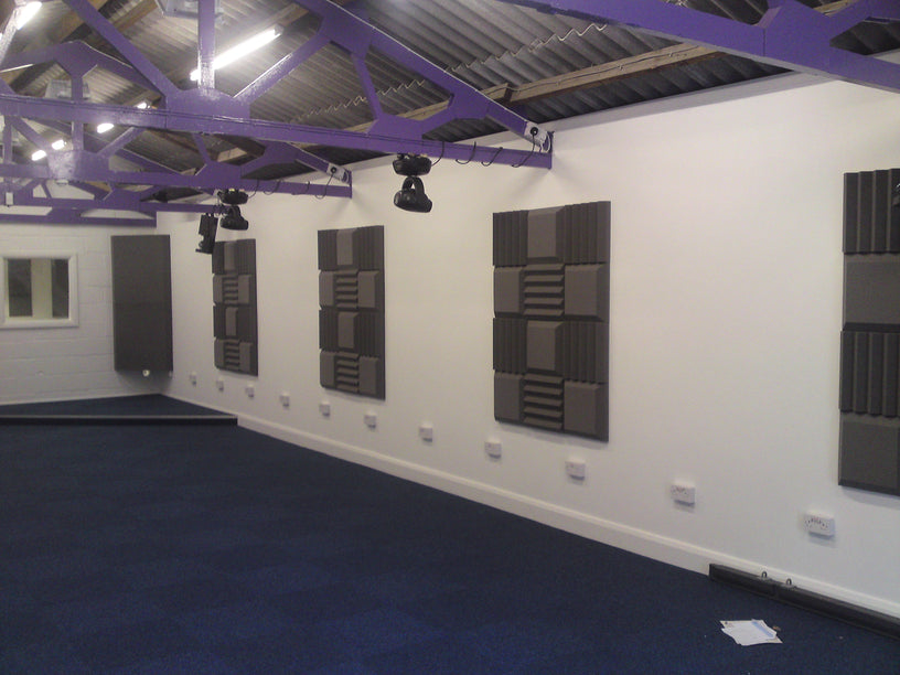 Acoustic Foam Studio Treatment Tiles and Bass Traps