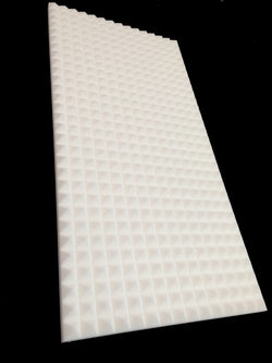 Mel-Acoustic Pyramid 40mm White Melamine Acoustic Foam Panel 600x1200