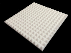 Mel-Acoustic Pyramid 40mm White Melamine Acoustic Foam Panel 600x600 Pack Of 10
