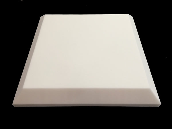 Mel-Acoustic Tegular 75mm White Melamine Acoustic Foam Panel 600x600 - Advanced Acoustics