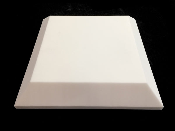 Mel-Acoustic Tegular 100mm White Melamine Acoustic Foam Panel 600x600 - Advanced Acoustics