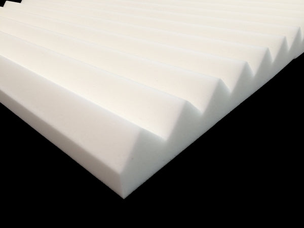 Mel-Acoustic Wedge 40mm White Melamine Acoustic Foam Panel 600x1200 - Advanced Acoustics
