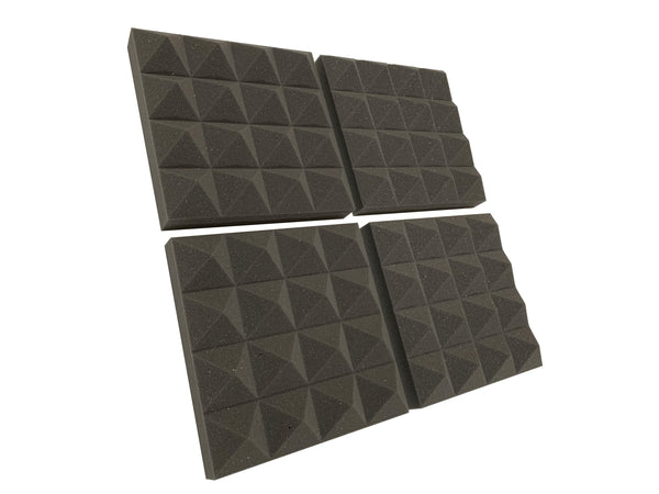 "Pyramid PRO 12"" Acoustic Studio Foam Tile Pack - Advanced Acoustics"