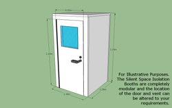 Silent Space Isolation Booth 1.2m by 1.2m