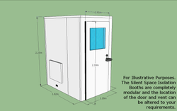 Silent Space Isolation Booth 1.2m by 1.8m