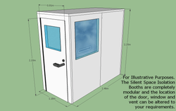Silent Space Isolation Booth 1.2m by 2.4m