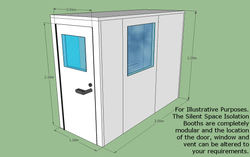 Silent Space Isolation Booth 1.2m by 3m