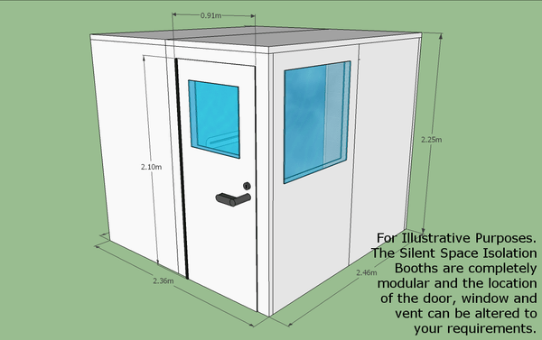 Silent Space Isolation Booth 2.4m by 2.4m - Advanced Acoustics