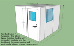 Silent Space Isolation Booth 2.4m by 3m