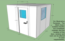 Silent Space Isolation Booth 3m by 3m