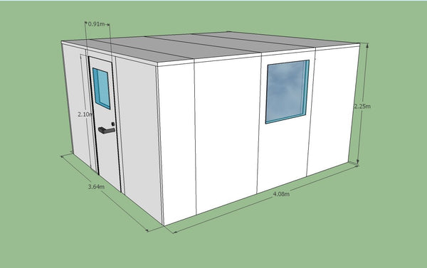 Silent Space Isolation Booth 3.6m by 4.2m - Advanced Acoustics