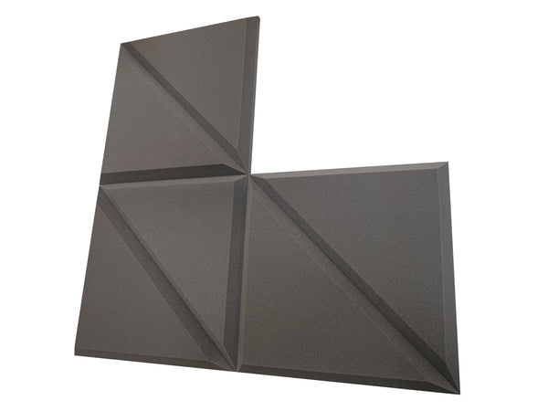 "Tri-Panel 24"" Acoustic Studio Foam Tile Pack - Advanced Acoustics"