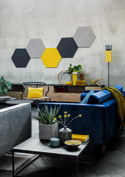 Acousti-Felt Polyester Acoustic Felt Panel 600mm x 518mm Hexagon