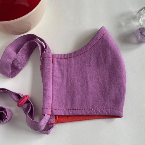 Lilac organic cotton BringIt! mask