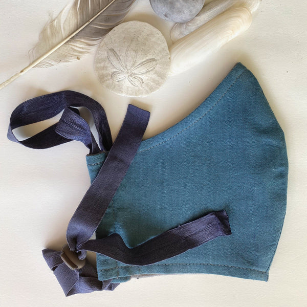 Pacific Blue organic cotton BringIt! mask and shells