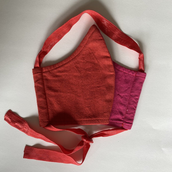 It's Hot! Fuschia and red organic cotton BringIt! mask