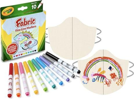 Design Your Own Organic Face Mask and Crayola fabric Markers - BringIt! Masks