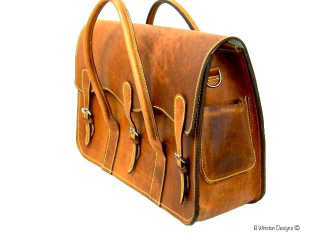 B. Winston Leather Litigation Briefcase
