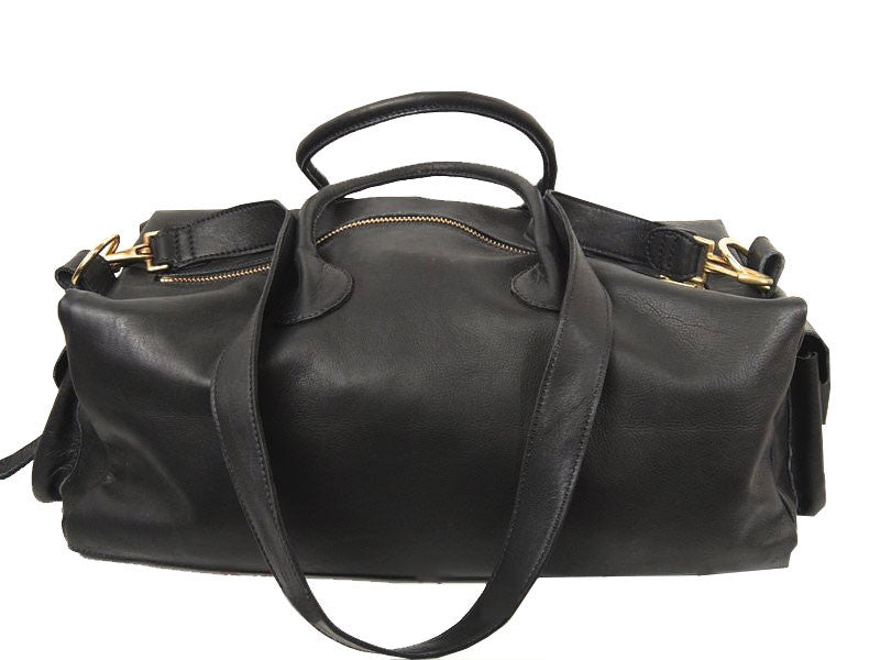 Black Overnight Carryall Bag
