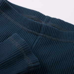Leggings - Cozy rib - Midnight - Yo verslun