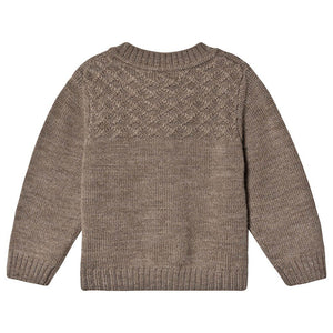 Little Jalo Merino Peysa - Wood Brown - Yo verslun