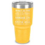 What in the Two Tone Mullet Laser Etched Tumbler