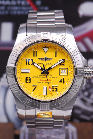 [SOLD] BREITLING AVENGER II SEAWOLF 45mm YELLOW A17331  AUTOMATIC