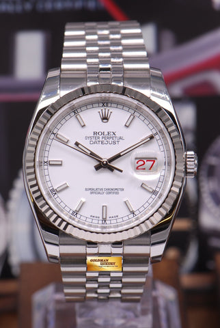 [SOLD] ROLEX OYSTER PERPETUAL DATEJUST WHITE Ref : 116234 (NEAR MINT)