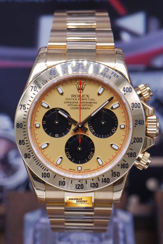 [SOLD] ROLEX OYSTER PERPETUAL DAYTONA 18K YELLOW GOLD Ref : 116528 (MINT) (UNDER 5 YEARS WARRANTY)