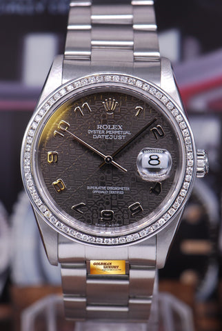 [SOLD] ROLEX OYSTER PERPETUAL DATEJUST COMPUTER DIAL DIAMOND BEZEL Ref : 16200 (NEAR MINT)