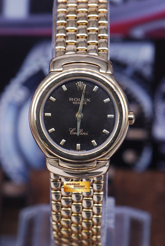 ROLEX GENEVE CELLINI 18K YELLOW GOLD LADIES QUARTZ Ref 6621 (MINT)
