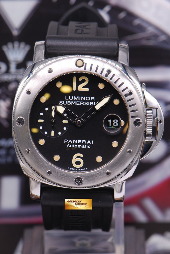 Sold Panerai Luminor Submersible Pam 24 Automatic