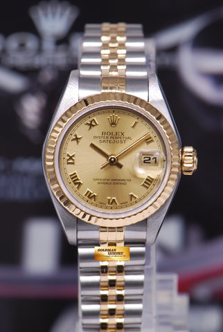 [SOLD] ROLEX OYSTER PERPETUAL DATEJUST 26mm HALF-GOLD Ref 79173 (MINT)