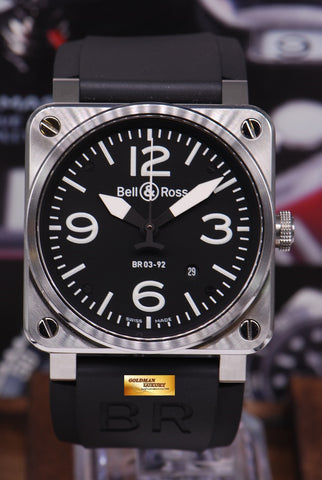 [SOLD] BELL & ROSS AVIATION STAINLESS STEEL BR03-92 AUTOMATIC (MINT)