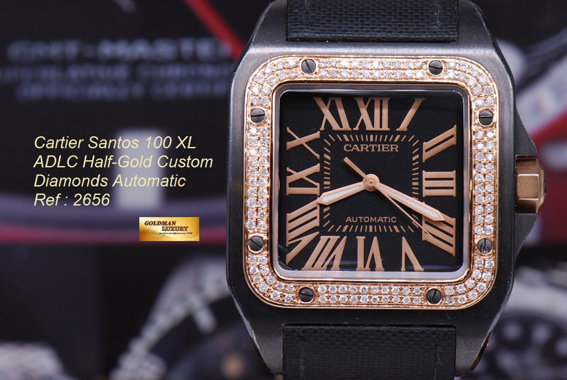 products/GML1113_-_Cartier_Santos_100_XL_ADLC_Half-Gold_Custom_Diamonds_NEAR_MINT_-_17.JPG