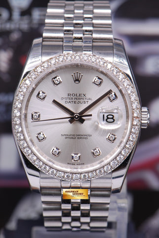 [SOLD] ROLEX OYSTER PERPETUAL DATEJUST DIAMOND DIAL & BEZEL Ref : 116234 (MINT)