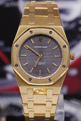 "[SOLD] AUDEMARS PIGUET ROYAL OAK LADIES 18K YELLOW GOLD ""TIFFANY & Co."" 30mm QUARTZ"