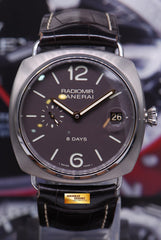 PANERAI RADIOMIR TITANIUM 45mm 8-DAYS POWER RESERVE MANUAL WINDING PAM 346 (NEAR MINT)