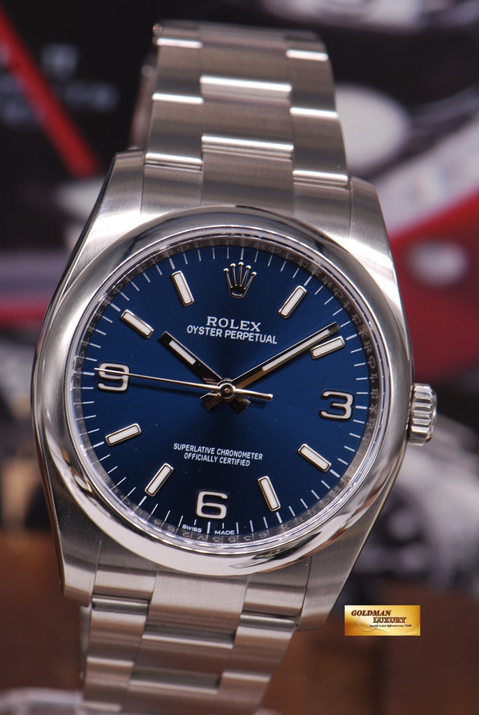 Sold Rolex Oyster Perpetual 36mm Gents Size 116000 Blue
