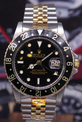 ROLEX OYSTER PERPETUAL GMT-MASTER I HALF-GOLD 16753 (VINTAGE MINT)