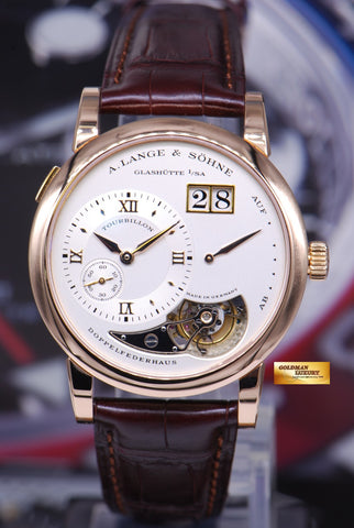 A.LANGE & SOHNE LANGE 1 TOURBILLON 18K ROSE GOLD MANUAL (RARE) LIMITED EDITION